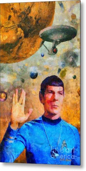 Star Trek-leonard Nimoy Metal Print