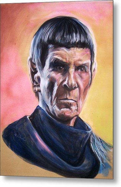 Star Trek Old Spock  Metal Print