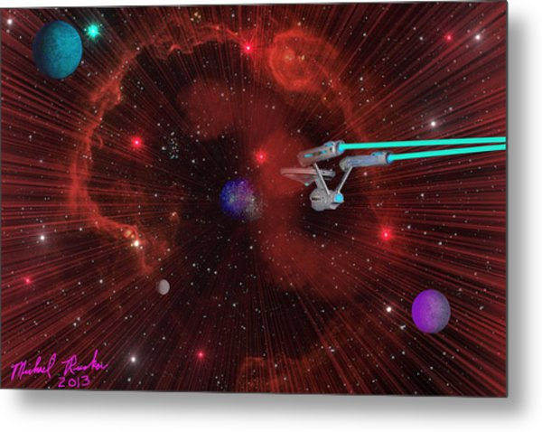 Star Trek - Punch It  Metal Print