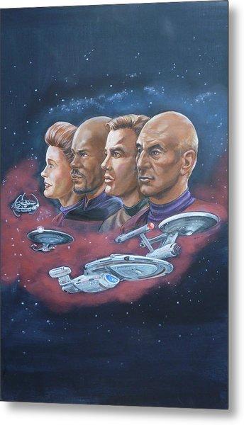 Star Trek Tribute Captains Metal Print