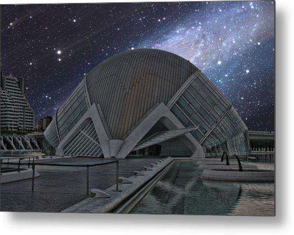 Starfall On Planetary Metal Print