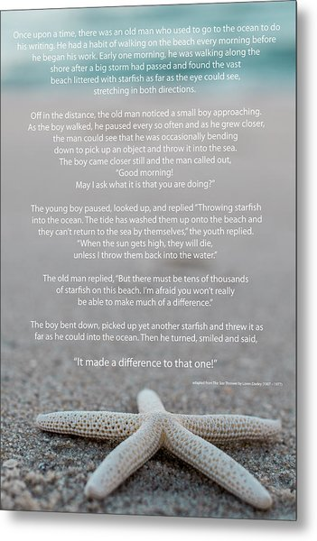 Starfish Make A Difference  Metal Print