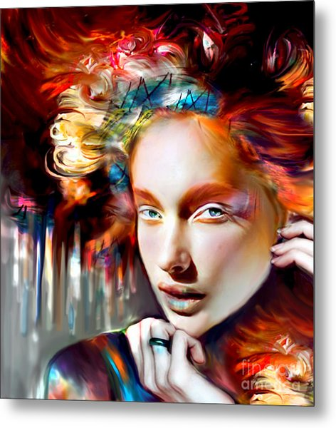 Stargirl I Bleed Color Metal Print