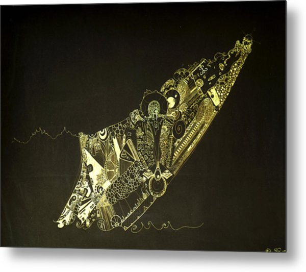 Staring At The Unknown Metal Print by Guillermo De Llera