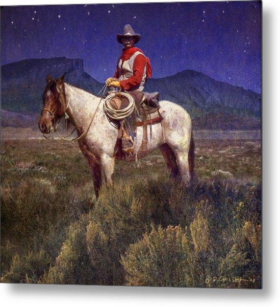 Starlight Cowboy Durango Metal Print by R christopher Vest