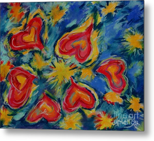 Starry Hearts Metal Print by Kelly Athena