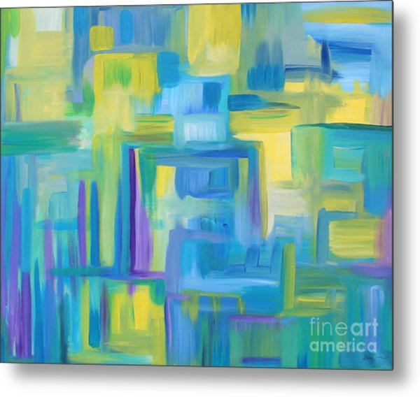 Starry Night Abstract Metal Print