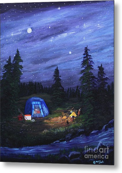 Starry Night Campers Delight Metal Print