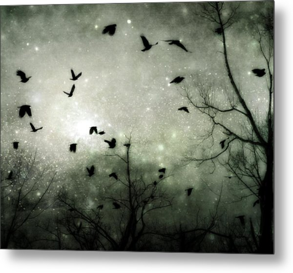Starry Night Reflections Metal Print