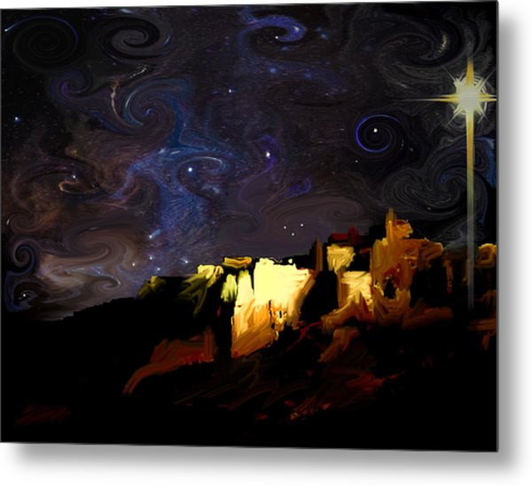 Starry Starry Bethlehem Night Metal Print by Ron Cantrell