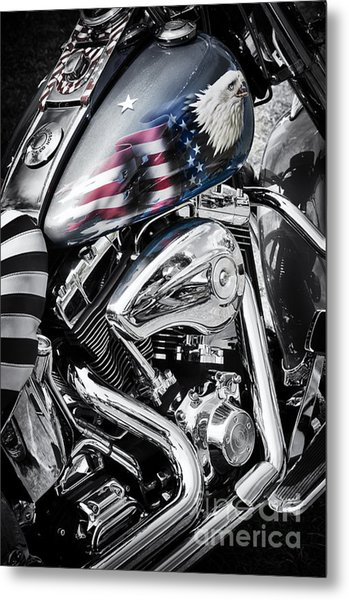 Stars And Stripes Harley  Metal Print