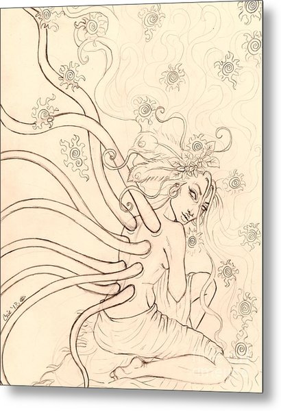 Stars Entwined In Her Hair Metal Print by Coriander  Shea