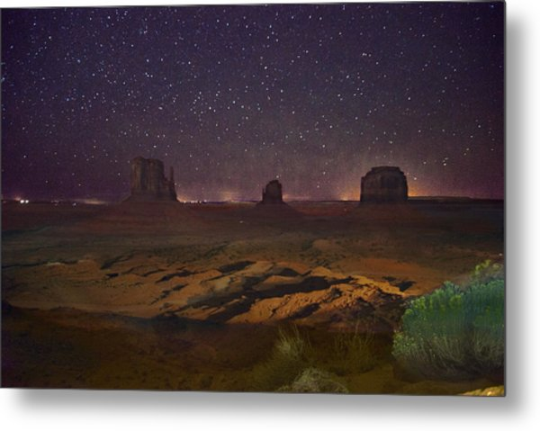 Stars Over Monument Valley Metal Print