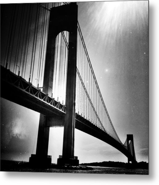Stars Over The Verrazano Metal Print