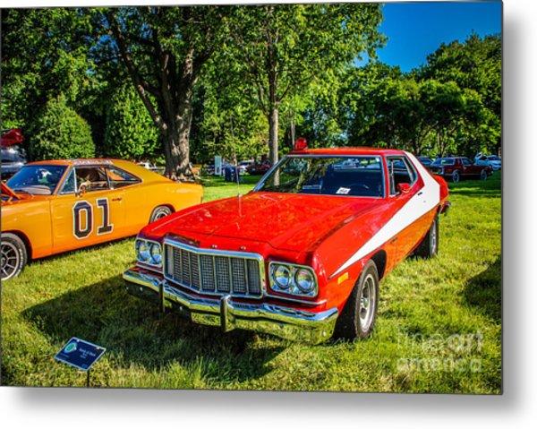 Starsky And Hutch Ford Gran Torino Metal Print