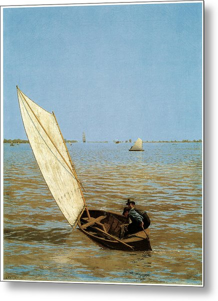 Starting Out After Rail Metal Print by Thomas Eakins