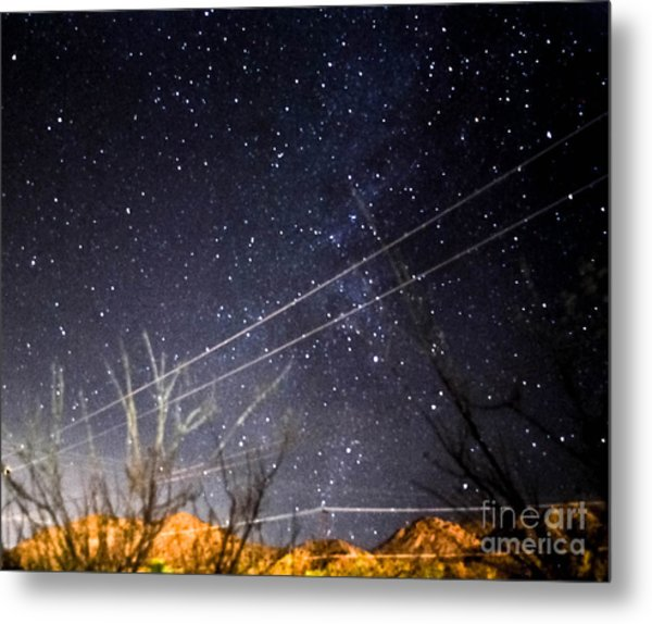 Stars Drunk On Lightpaint Metal Print