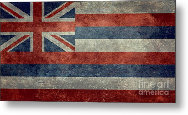 State Flag Of Hawaii Vintage Version Metal Print