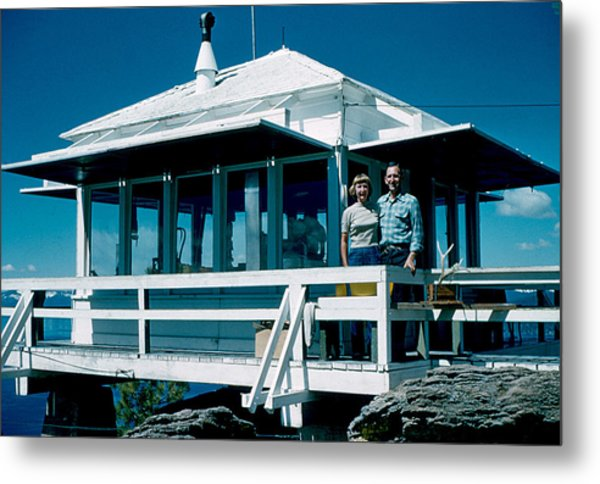 State Line Lookout 1956 Metal Print by Cumberland Warden