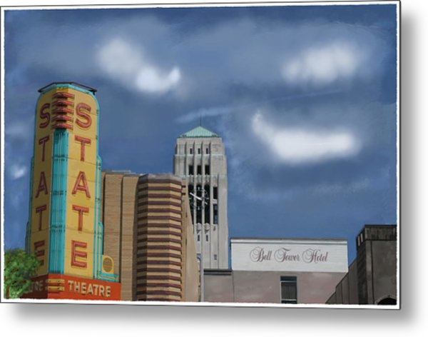State Theater Metal Print by C A Soto Aguirre