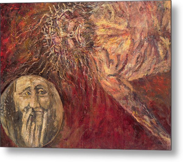 Station Vii Jesus Falls For The Second Time Metal Print by Patricia Trudeau