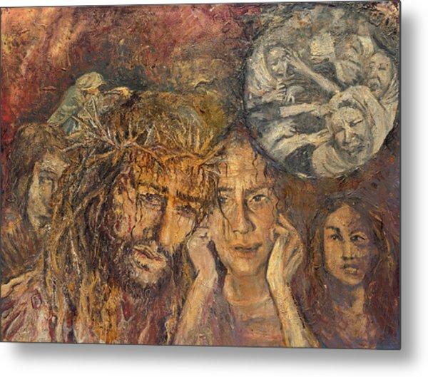 Station Viii Jesus Meets The Women Of Jerusalem Metal Print