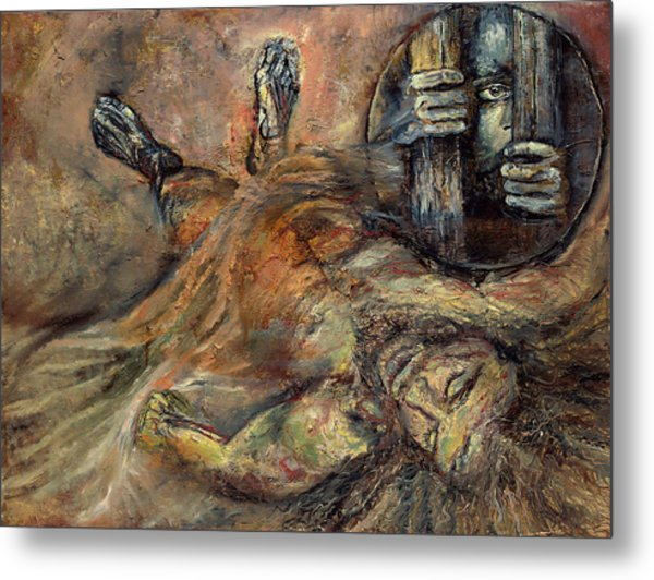 Station Xiv Jesus Is Laid In The Tomb Metal Print
