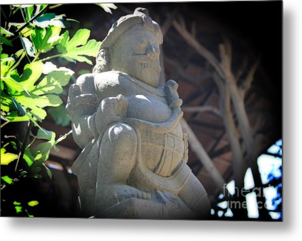 Statue In The Sun Metal Print