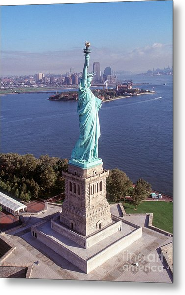 Statue Of Liberty Close Metal Print by Kim Lessel