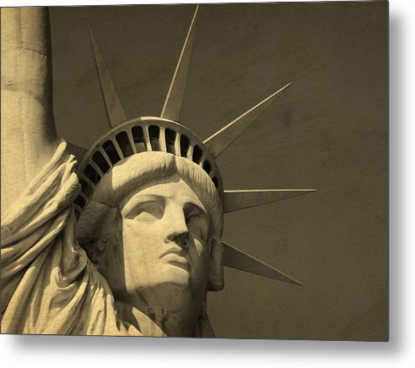 Statue Of Liberty Closeup  Metal Print