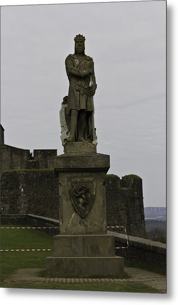 Statue Of Robert The Bruce On The Castle Esplanade At Stirling Castle Metal Print