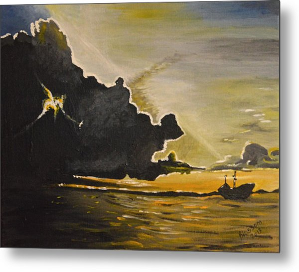 Staying Ahead Of The Storm Metal Print