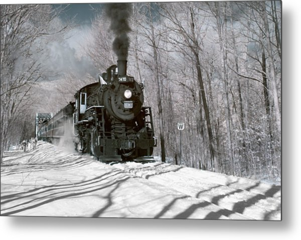 Steam And Snow Metal Print