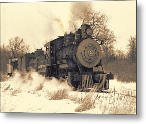 Steam Engine Number Two Metal Print by Robert Kleppin