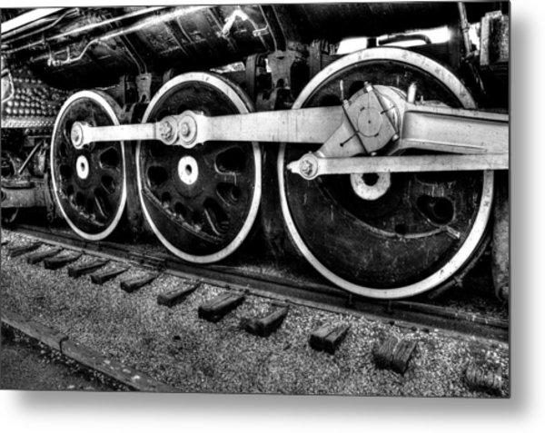 Steam Engine Wheels Metal Print by Honour Hall