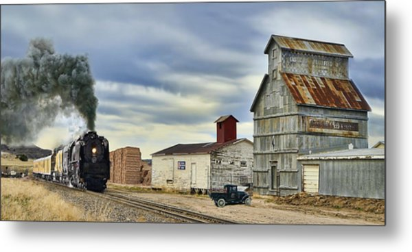Steam In Castle Rock Metal Print