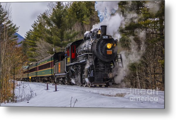 Steam In The Snow 2015 Metal Print