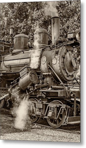 Steam Power Sepia Metal Print