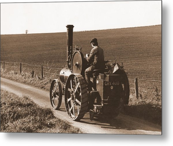 Steam Tractor Metal Print