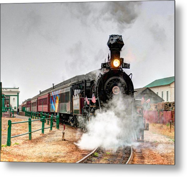 Metal Print featuring the photograph Steam Train 45 by William Havle