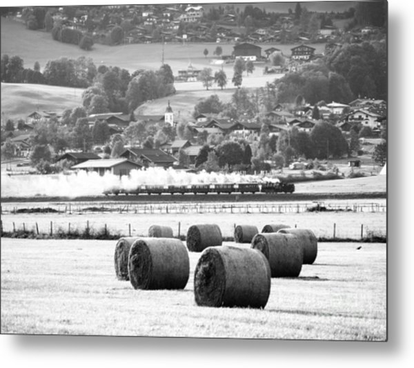 Steam Train Metal Print