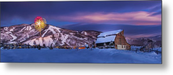 Steamboat Barn Metal Print