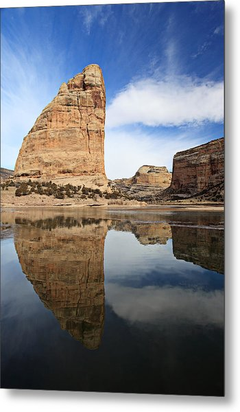 Steamboat Rock Face Metal Print