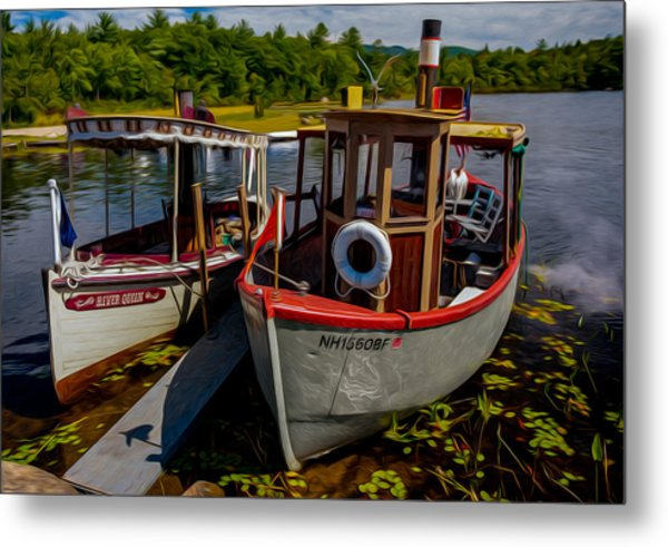 Steamboats On The Lake Metal Print