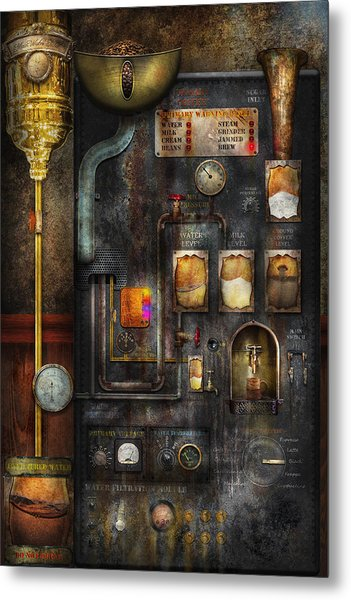 Steampunk - All That For A Cup Of Coffee Metal Print
