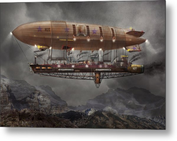 Steampunk - Blimp - Airship Maximus  Metal Print