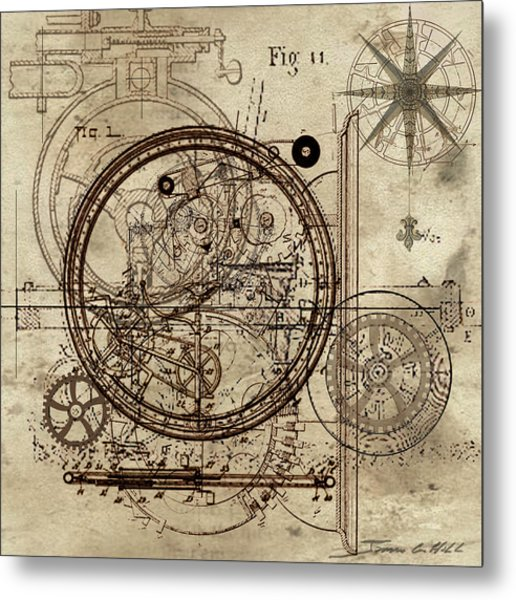 Steampunk Dream Series IIi Metal Print