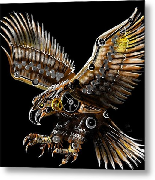 #steampunk #eagle #eagleds2 #bird Metal Print