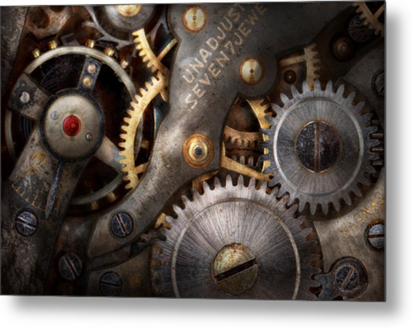 Steampunk - Gears - Horology Metal Print