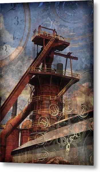 Steampunk Iron Mill Metal Print